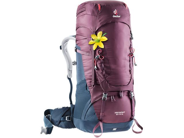 Deuter Aircontact 50 + 10 SL Backpack Damen blackberry-navy